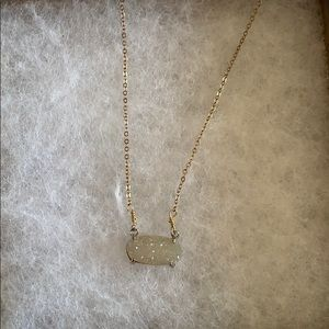 Gold sparkle white stone necklace from San Diego